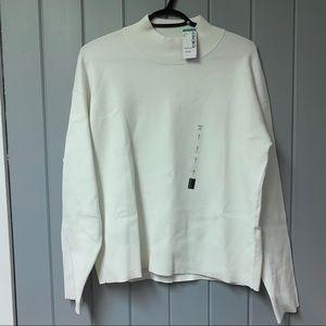 Twik White mock neck sweater